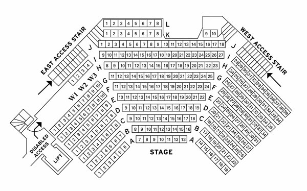 Theatre seating plan for the brunton