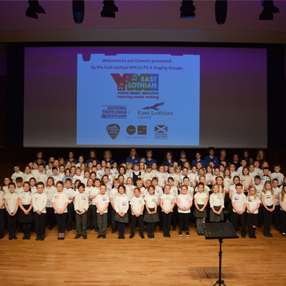 Young people from the East Lothian NYCoS singing groups come together for their annual concert.