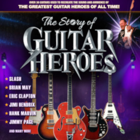 NEW DATE: Saturday 26 February 7.30pm 2022The Story of Guitar Heroes - If you like music and guitars you will LOVE this show!